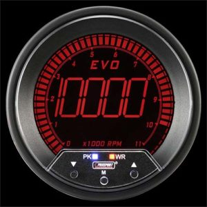 85mm EVO Series </br>Tachometer 4 Color Digital LCD Display with Peak & Warning</br> </br>PS1201