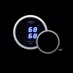Dual Intercooler air temp gauge</br>