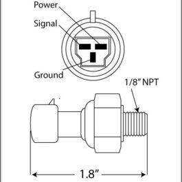 Premium Series Oil/Fuel Pressure Sender </br> #PSSMOPS