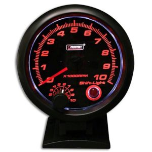 3 3/4'' Tachometer</br> 0-10.000RMP w/shift-light & gun-color housing Stepper Motor</br></br> PS304