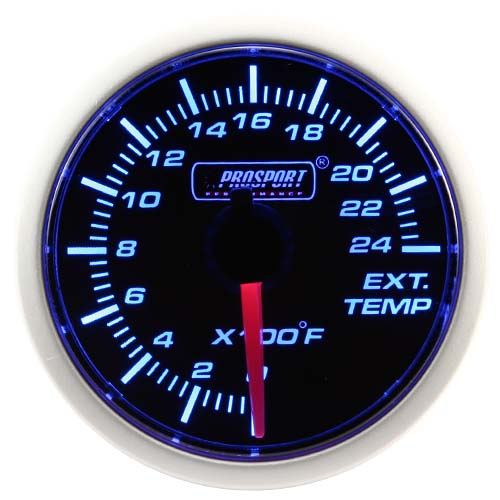 performance series blue led gauges 52mm